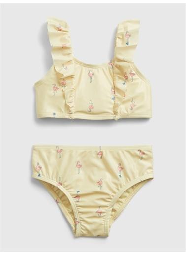 Gap Flamingo Desenli Bikini Sarı